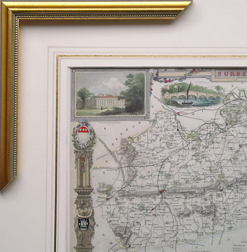 Frame fo antique map 732