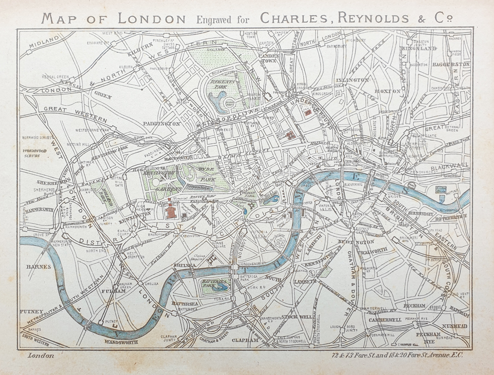 Antiquarian map of London for sale