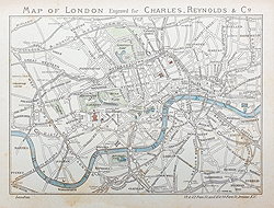 Antique Victorian Map of London by Reynolds for sale