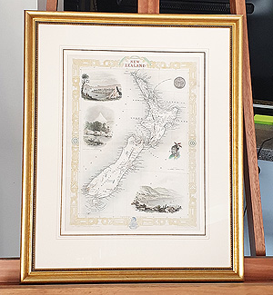 New Zealand map framing