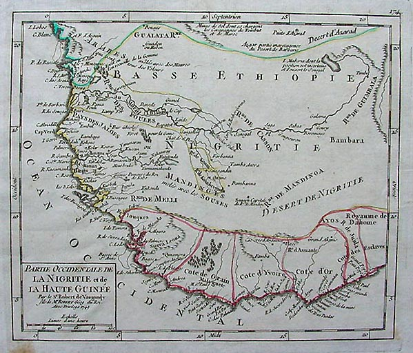 Antique Map of North West Africa