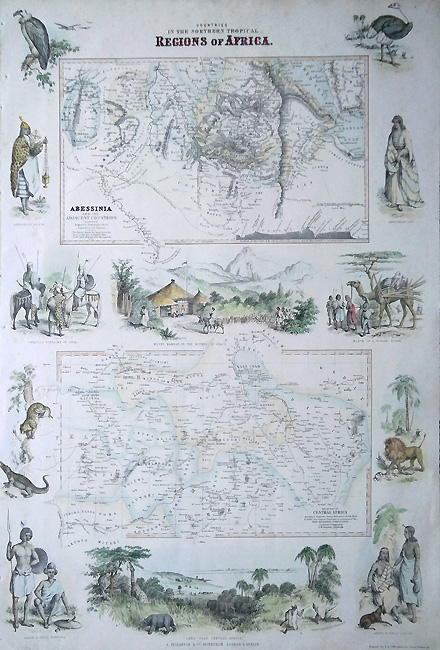 Antique Map of North Africa