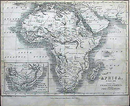 19th Century Africa Map.Antique 19th Century Map Of Africa Circa 1850 By Francis Arrowsmith