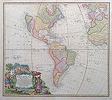 Americae map by Homman for sale