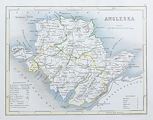 antique map of Anglesea by Cary