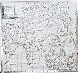 Asia 18th century map for sale