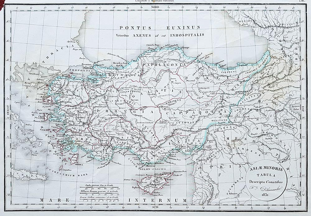 Nineteenth century map of Asia Minor