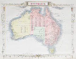 Antique Maps Of Australia From The Th And Th Century For Sale - Antique maps for sale australia