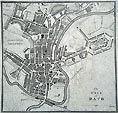 Bath Town Plan - 18th century