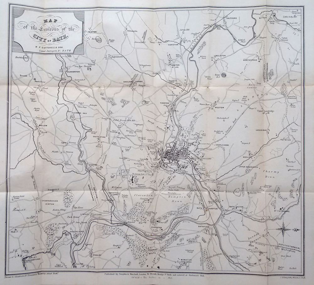 map and engravings