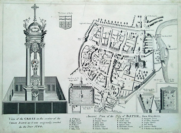 18th century City map of Bath