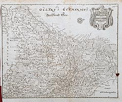 17th century map of Belgium for sale by Cluver