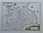 Antique 17th century map of Berwickshire by Blaeu
