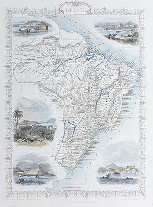 Brazil antique map for sale