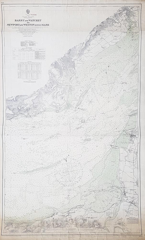 Admiralty chart of SE Wales and Nort Somerset Coasts of Bristol Channel