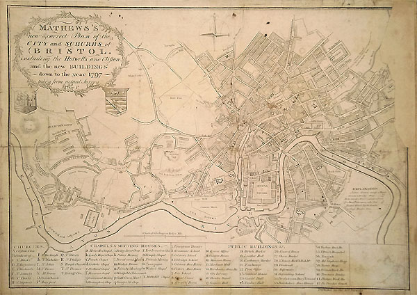 Bristol 18th century plan