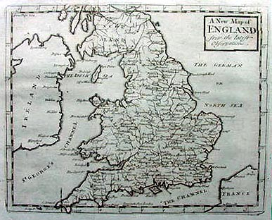 18th century old historical map of england and wales moll dated old map of england and wales circa 1720 gumiabroncs Gallery