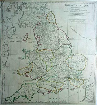 Antique map of Ancient Britain