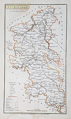 Buckinghamshire antique map for sale