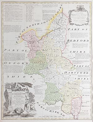 Antique  Map of Buckinghamshire by Emanuel Bowen for sale