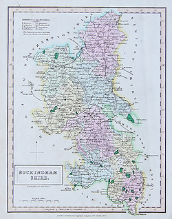 Hall - Buckinghamshire map for sale