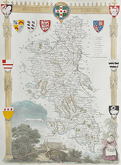 Moule Buckinghamshire map for sale