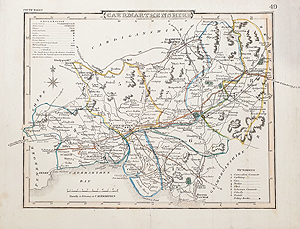 antique map of Camarthenshire