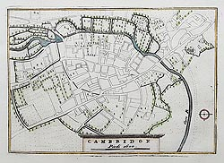 Early 18th century map of Cambridge for sale - Vincenzo Coronelli