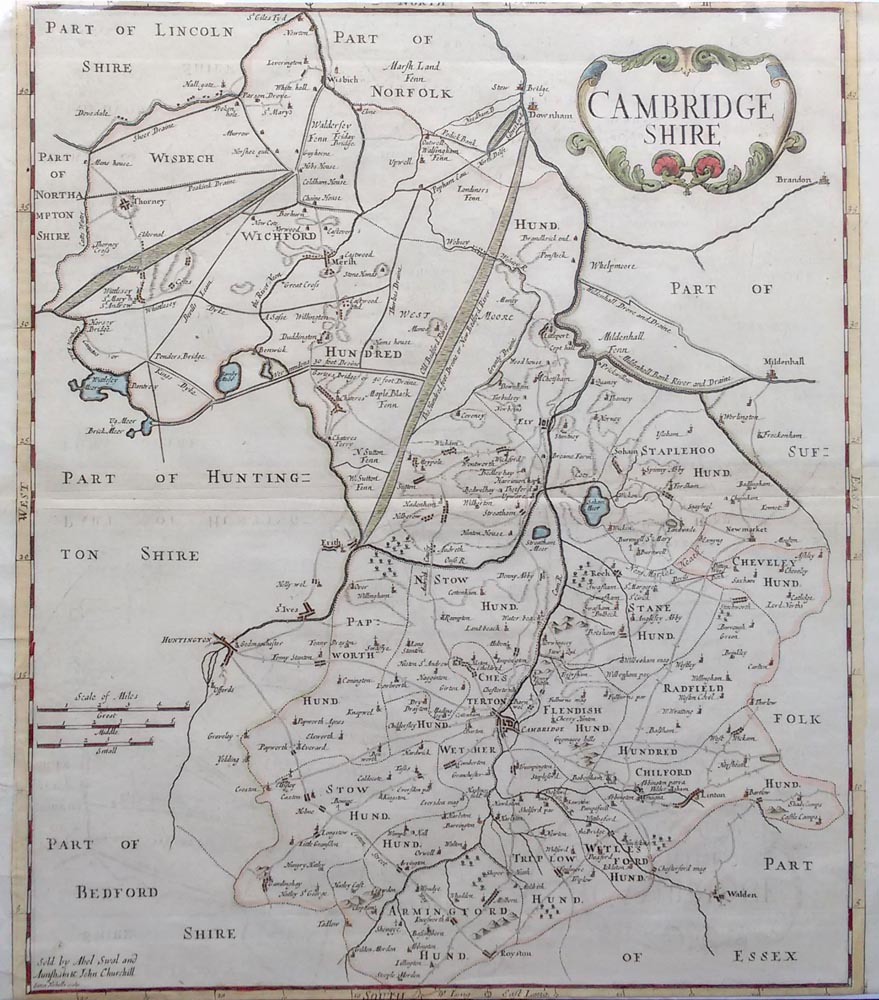 Antique map of Cambridgeshire for sale by Morden