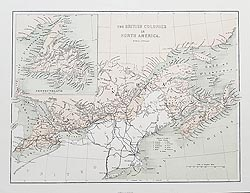 Canada             and Newfoundland antique map for sale