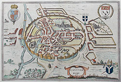 Canterbury antique city map for sale