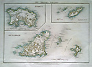 Jersey Guernsey Alderney and Sark - Channel Island antique map