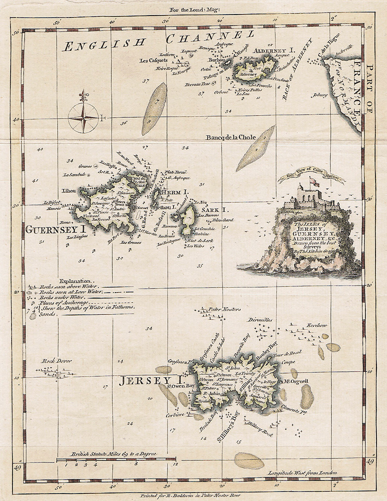 Channel Islands map by Kitchin
