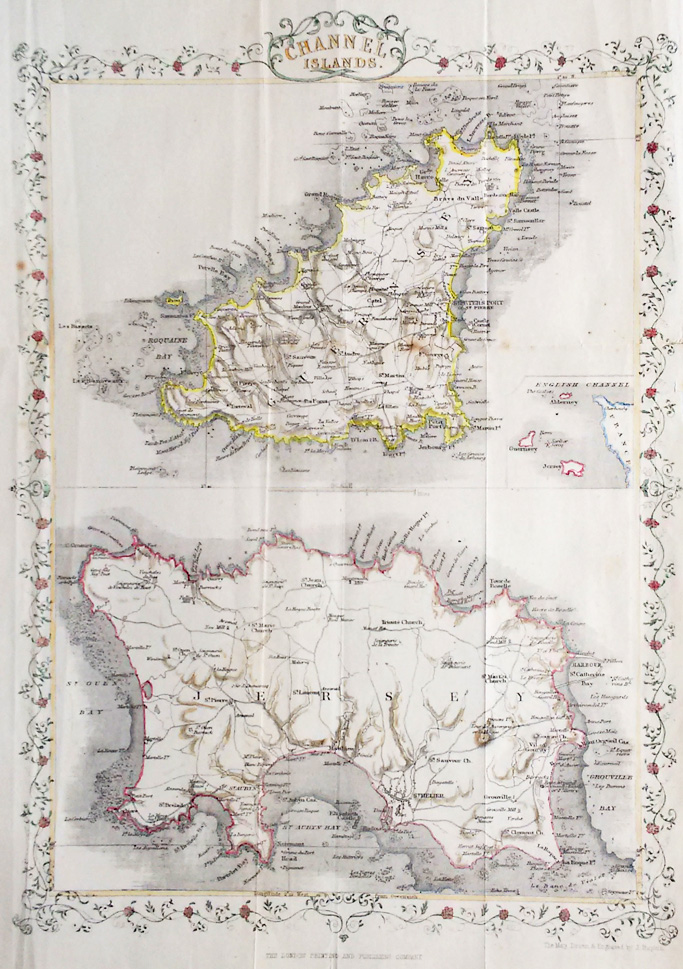 Channel Islands - The Map Drawn and Engraved by John Rapkin