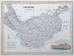 Antique map of Cheshire for sale by Fullarton