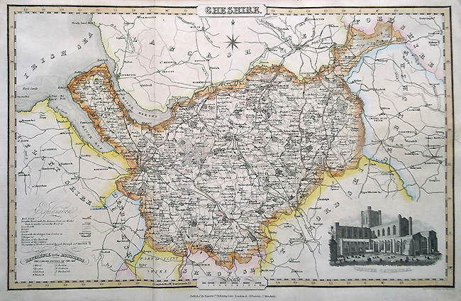 Cheshire old map by Pigot