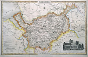 Old map of Cheshire by James Pigot