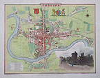 Chester City Map dated 1805