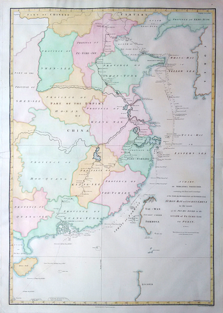 John Barror chart of China 1796
