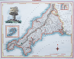 Fullarton map of Devon for sale