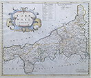 Cornwall map by Morden