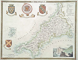 Moule county map of Cornwall for sale