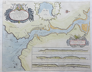 Antique Chart of Dartmouth by Greenvile Collins for sale
