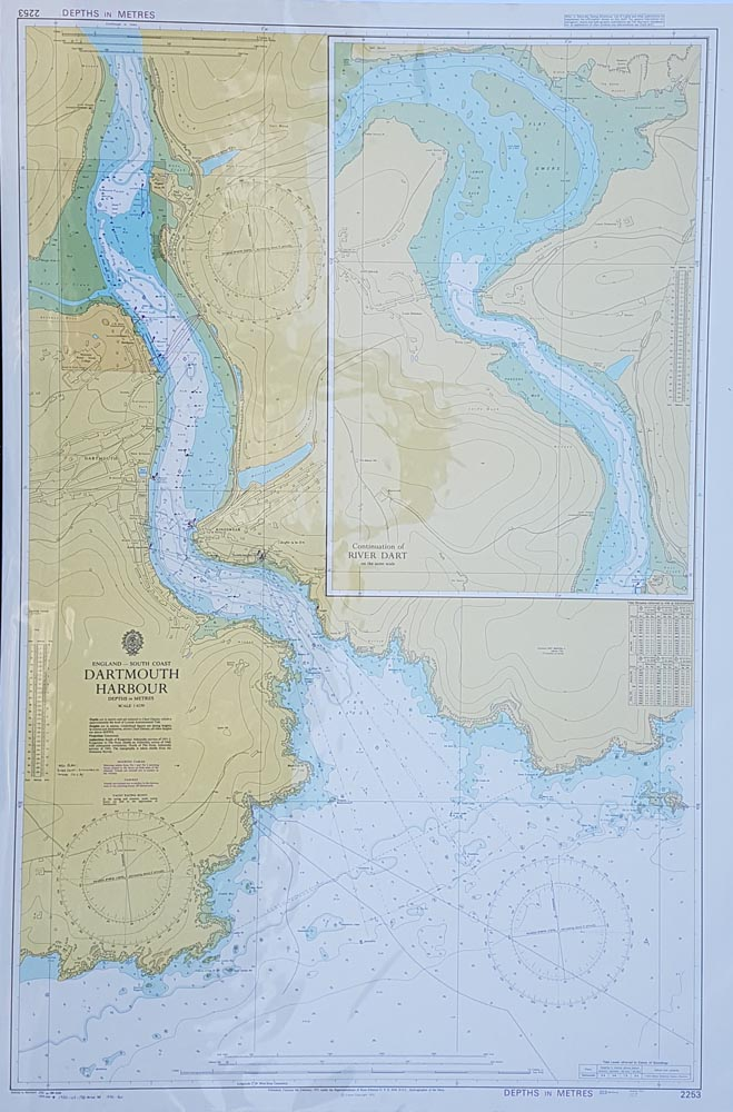 Vintage Admiralty Chart - Dartmouth Harbour