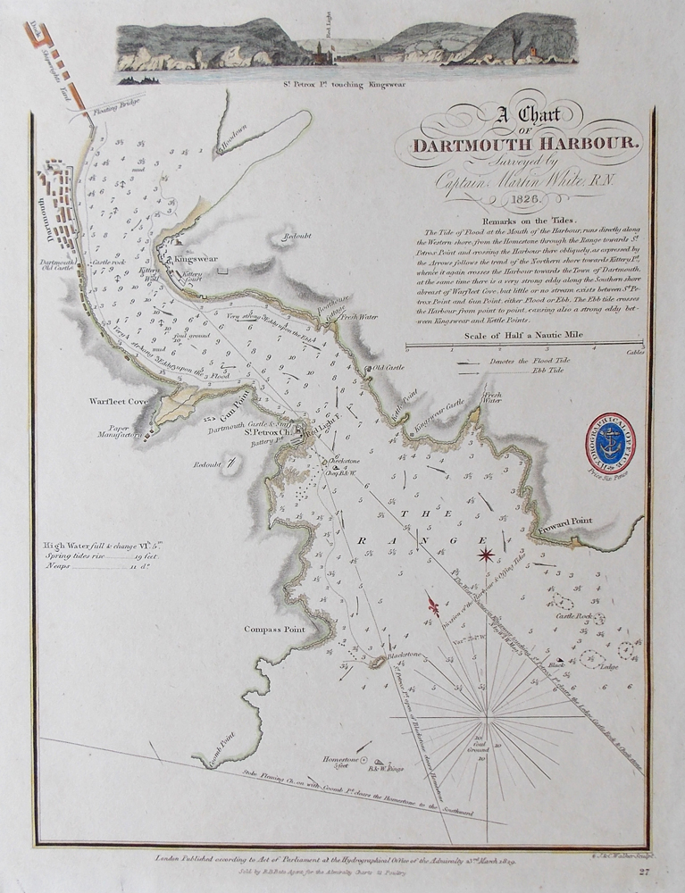 19th century chart of Dartmouth Harbour