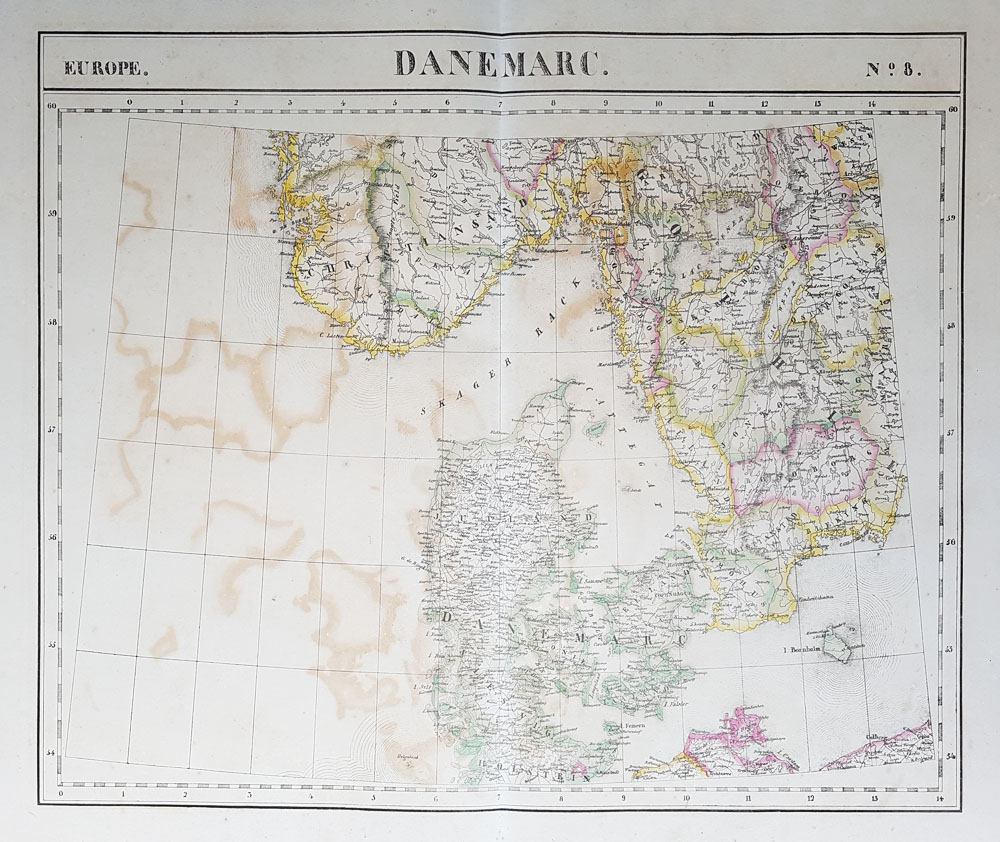 Danmark - 19th century map for sale