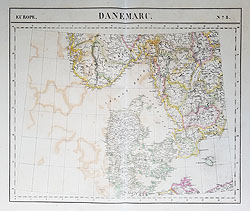 Denmark 19th century map for sale