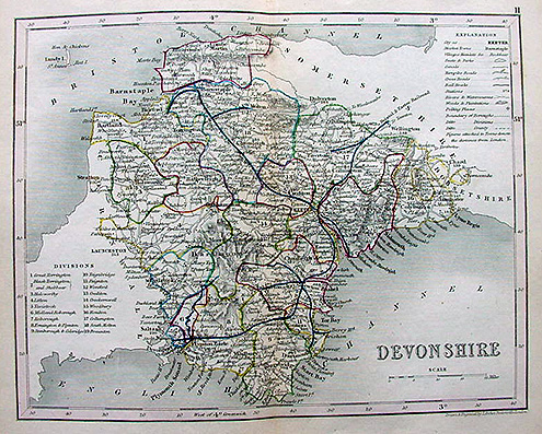 Devon Map by Joshua Archer