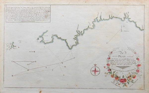 Devon and Cornwall 18th century Naval Chart
