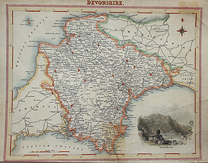Fisher map of Devon for sale